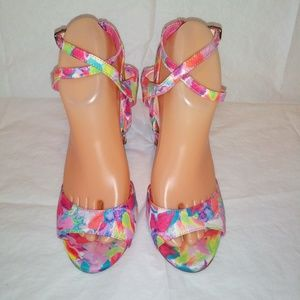 Gianni Bini Ankle Strap Open Toe Sandals